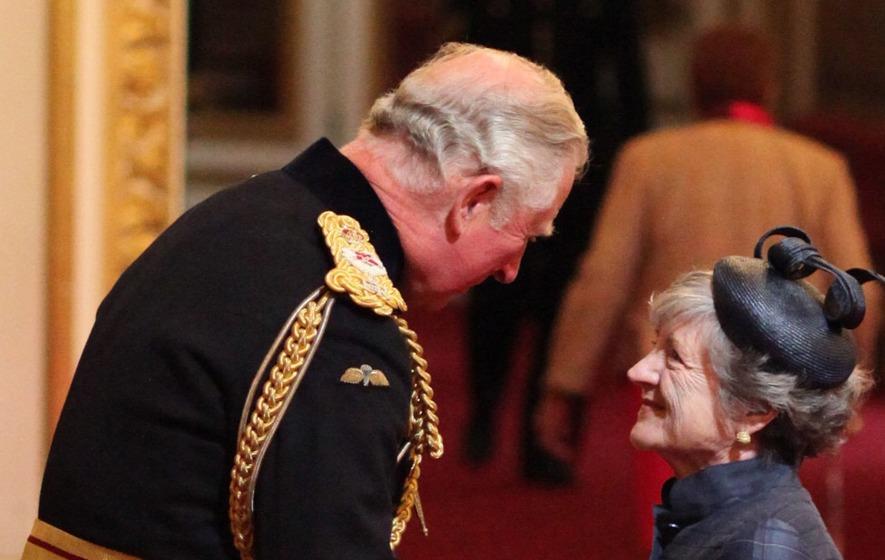 Queen actress Julia McKenzie returns to Buckingham Palace to