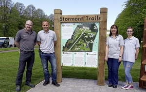Three new adventure trails opened at Stormont Estate in Belfast