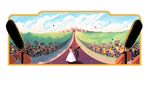 The Google Doodle is all about celebrating the Royal Wedding