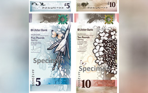 Ulster Bank unveils 'vertical' banknotes