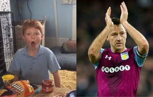 The priceless moment a young Villa fan discovered he'll be a Wembley mascot