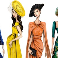 See amazing illustrations of the fashionable guests at the royal wedding
