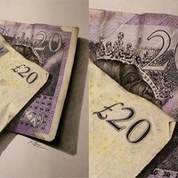 This incredible £20 note drawing is so realistic it looks like a photo