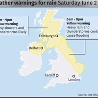 Thunderstorms forecast amid reports of Derry flash floods