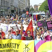 Thousands attend rally to demand introduction of same-sex marriage in Northern Ireland