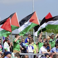 Dozens of Palestinian flags flown at Healy Park despite Ulster council saying they are banned