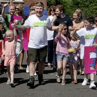 West Belfast man gets warm welcome after 250 mile walk