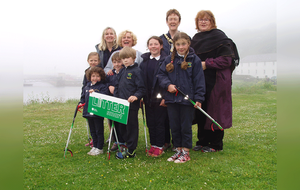 St Mary's Primary School Rathlin Island leads the way with a litter pick