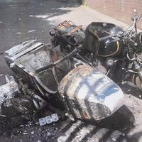 Thieves who burnt out tourists' £15k motorcycle and side car should 'hang heads in shame'