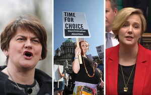 Give women same control over bodies as Arlene Foster has over British government, says Stella Creasy
