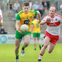 Eoghan Ban Gallagher putting his white boots forward for Donegal
