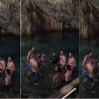 An ancient cave provided perfect acoustics for this impromptu choir performance