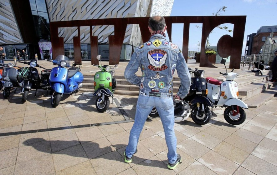 Vespa enthusiasts from around the world descend on Belfast