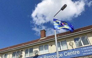 UDA flag erected at entrance to south Belfast primary school