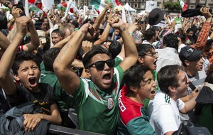 Mexico fans may have caused a minor earthquake after celebrating their World Cup win