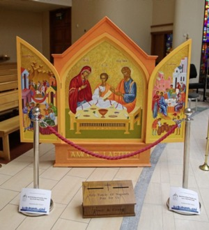 Holy Family icon in Downpatrick ahead of WMOF