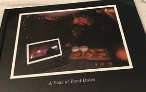 Guy catalogues every food date he and his girlfriend had over the past year