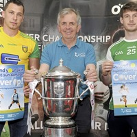 Rival Fermanagh and Donegal players come close to Anglo Celt Cup ahead of Ulster football final
