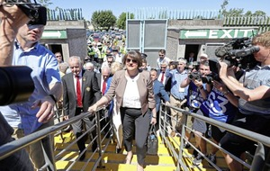 DUP leader Arlene Foster ends weeks of speculation and attends Ulster GAA final