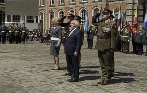 Michael D Higgins and Leo Varadkar mark Ireland's role in UN peacekeeping