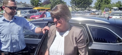 Arlene Foster at the GAA Ulster Final