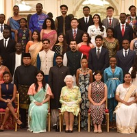 Stars join royals at awards ceremony honouring inspirational young leaders