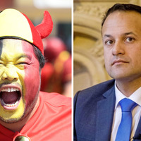 Video: Taoiseach Leo Varadkar supporting Belgium against England in World Cup