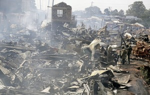 Fire sweeps through Nairobi marketplace killing 15