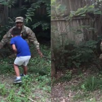 This soldier filmed his four-year-old's reaction to his return after 288 days