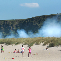 Benone Strand on fire