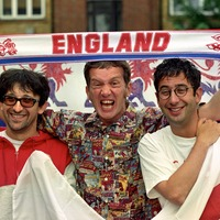 Baddiel and Skinner among famous England fans celebrating victory over Colombia