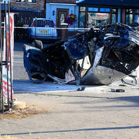 Police in pursuit of stolen car which 'flew through the air' injuring a child and five adults