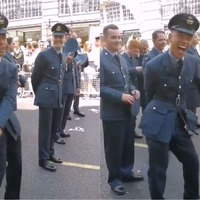 Watch: RAF officer pulls off a perfect floss at London Pride