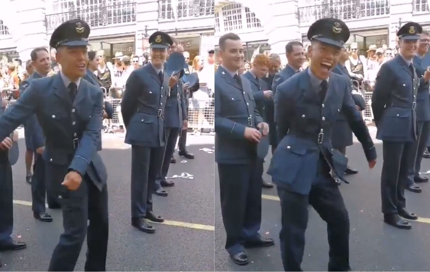 Watch Raf Officer Pulls Off A Perfect Floss At London Pride The