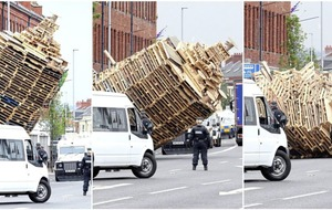 Allison Morris:  Cluan Place bonfire removal an unprecedented scene even by Northern Ireland standards