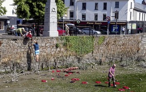 Stolen poppy wreaths recovered from river by 'cross community' human chain