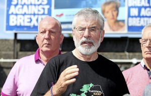 Man (35) arrested after explosive devices thrown at Gerry Adams' house