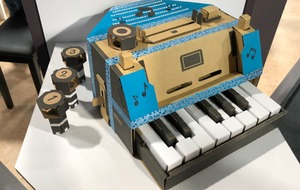 Working accordion heads Nintendo Labo creation contest winners