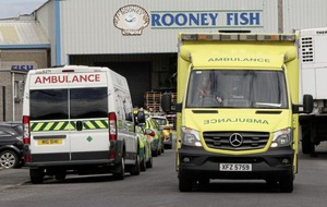 Two people in a stable condition in hospital after suspected ammonia leak at Kilkeel fish factory