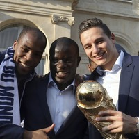 Watch the entire France squad serenade N'Golo Kante after France's World Cup win