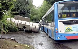 11 remain in hospital after Newtownards bus and tractor crash