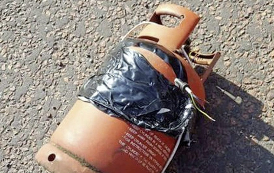 'I found bogus bomb and made it into a log burner - but police took it away'