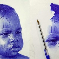 Artist goes viral for creating astonishingly realistic portraits with Biro pens