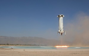 Jeff Bezos's Blue Origin launches spacecraft higher than ever
