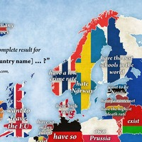 This clever map reveals the questions Americans Google about European nations