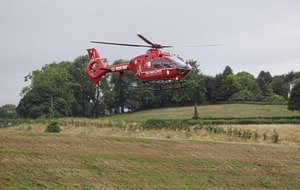 Air ambulance called out 380 times in first 12 months