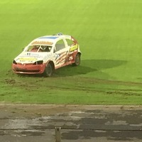 Ballymena football club's anger over stock cars on new pitch