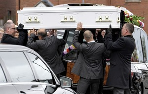 Funeral for west Belfast mother Séaneen McCullough who died in Turkey