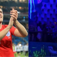 Watch: Crowd goes wild as Harry Maguire puts head to football in Ibiza club