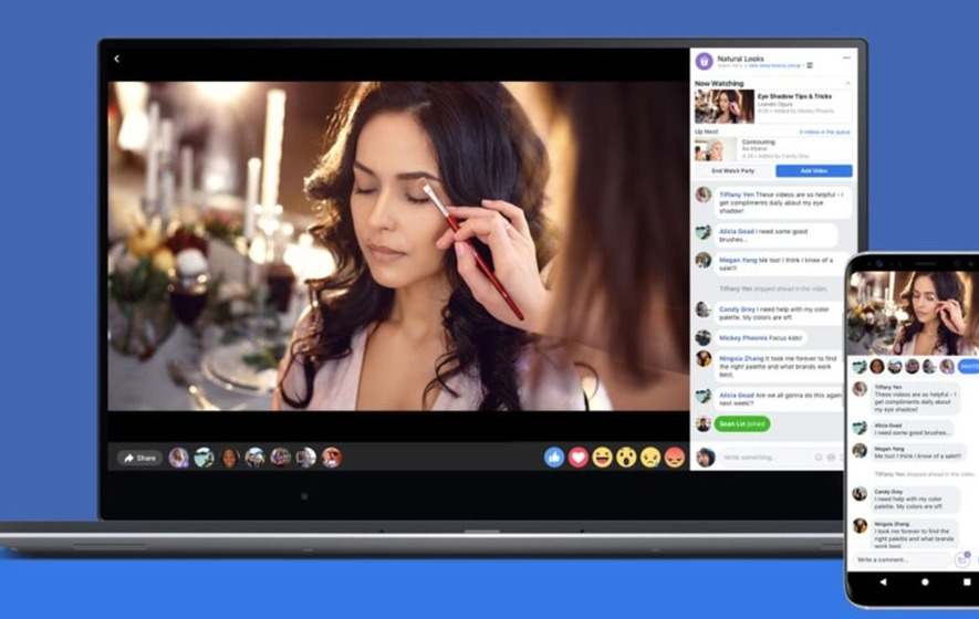 Facebook opens 'Watch Party' group video watching to all